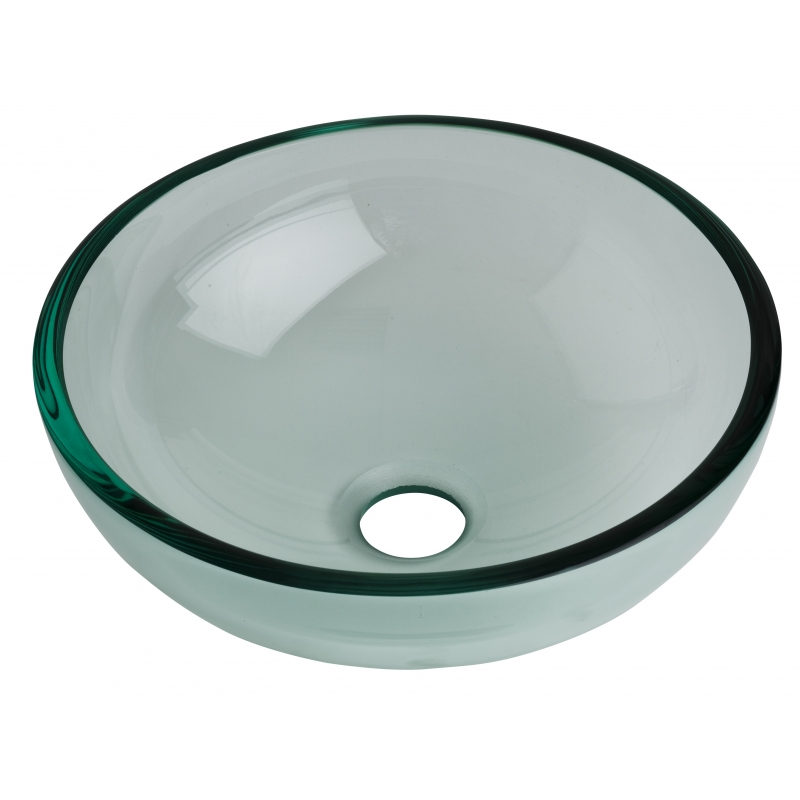 Vasque salle de bain ronde - Vasques en verre transparent pas cher