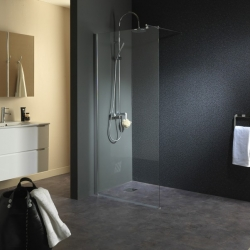 Paroi pour douche parois douche avec effet miroir for Douche italienne sans paroi
