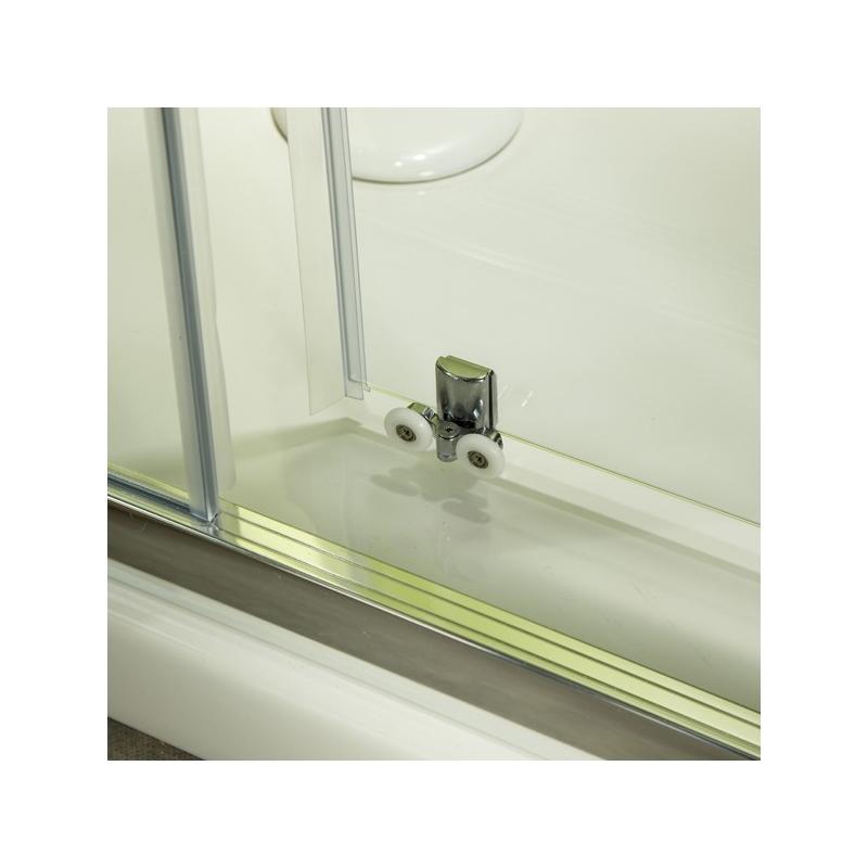 Porte de douche en verre portes pour douche style moderne planete bain - Porte coulissante pour douche ...