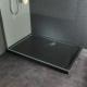 Receveur de douche extra plat en pierre naturelle noire 80X120