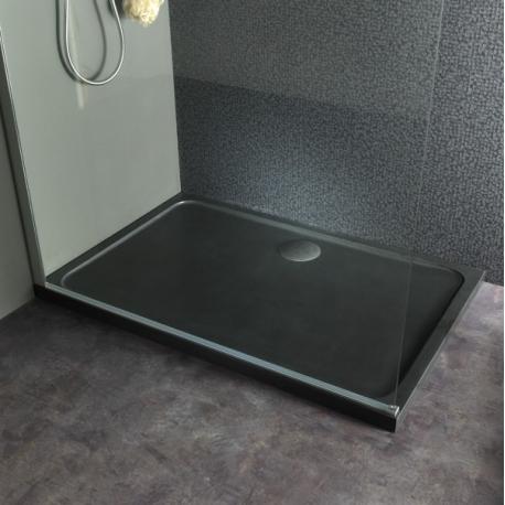 receveur de douche en pierre noire