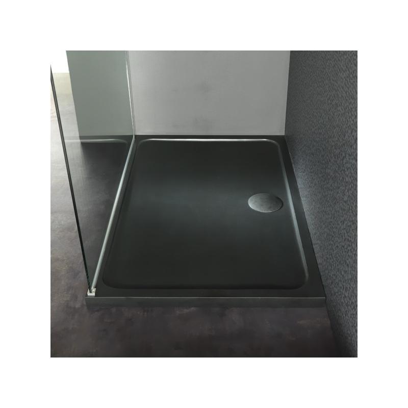 Receveur douche en pierre noire receveurs douche 80x120 planete bain - Receveurs de douche extra plat ...