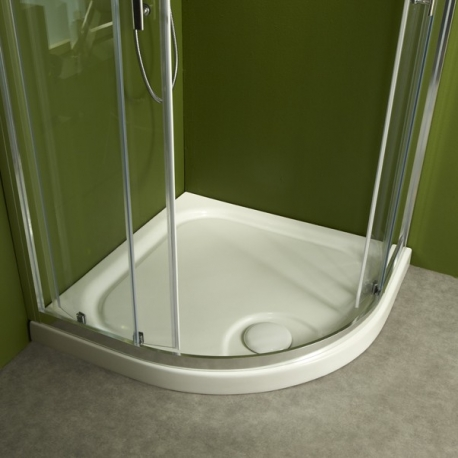 receveur de douche d angle a poser extra plat en grejpg - Douche Italienne Dimension1752