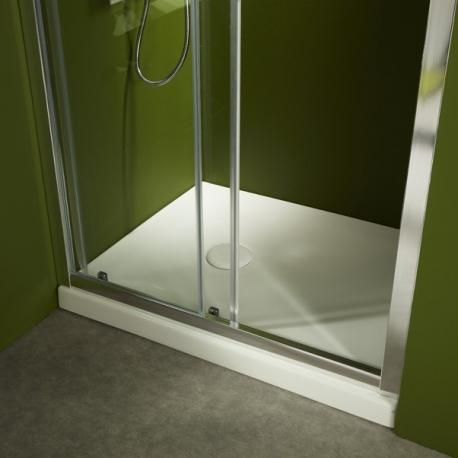 Receveur de douche à poser 80X80 en gré Blanc très esthétique