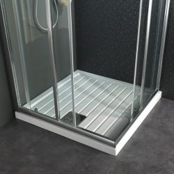 Receveur de douche à poser large rainuré 90X90 en gré