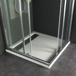 receveur extra plat poser design 80x140 blanc 523030. Black Bedroom Furniture Sets. Home Design Ideas