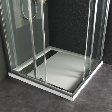 Receveur extra plat à poser Design 90X90 Blanc