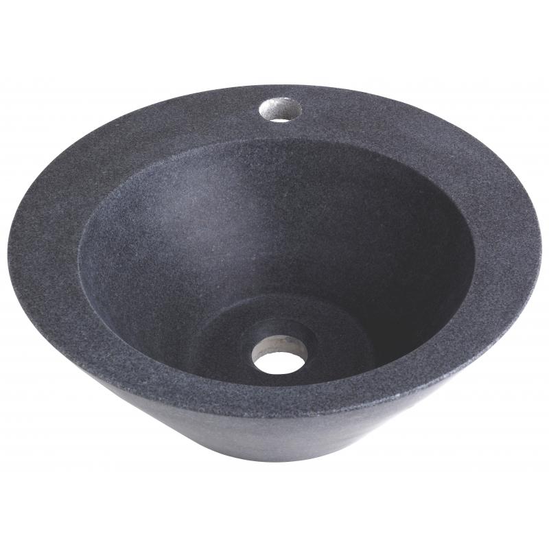 Achat vasques en granit vasque en forme conique for Vasque a poser en pierre naturelle