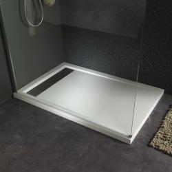 Paroi pour douche parois douche avec effet miroir planete bain - Poser receveur extra plat ...