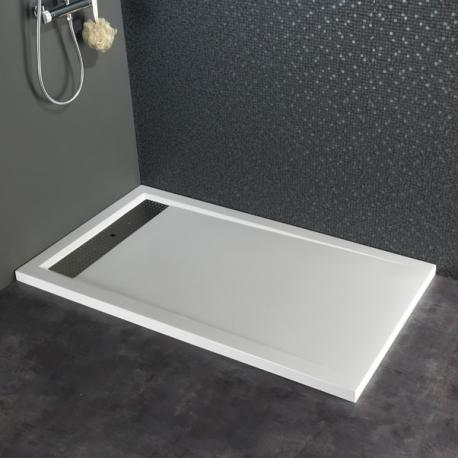 Receveur extra plat à poser design 80X140 blanc