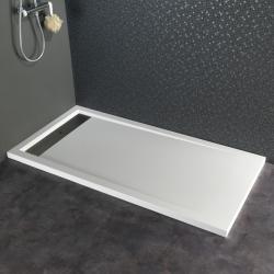 Receveur extra plat à poser contemporain 80X160 blanc
