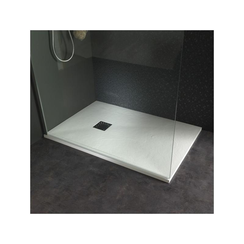 receveur extra plat poser design reflet ardois 80x120 blanc 523034. Black Bedroom Furniture Sets. Home Design Ideas