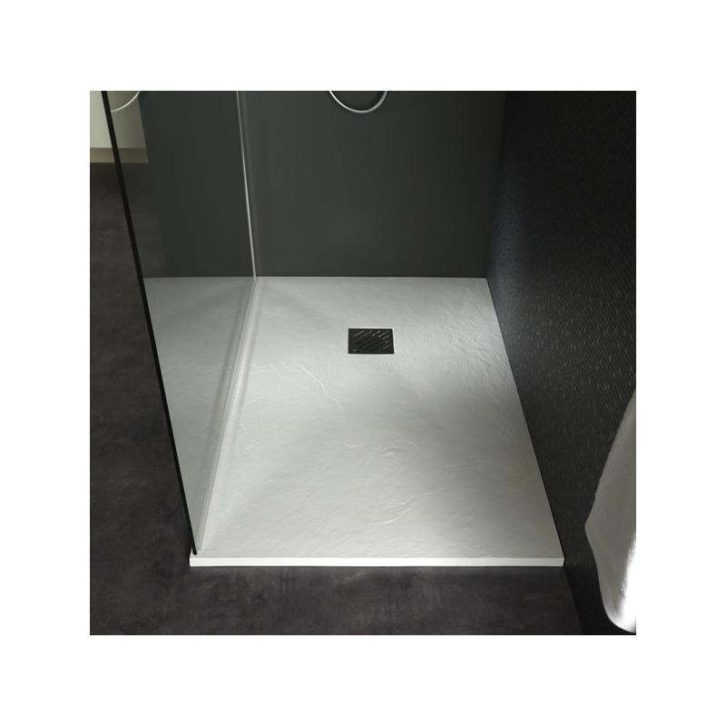 receveur extra plat à poser design reflet ardoisé 80x120