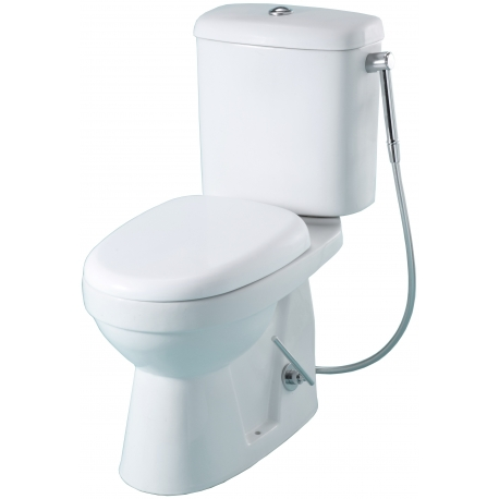 Pack wc à poser + douchette hansgrohe Sortie Horizontale