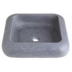 Vasque à poser carré en pierre naturelle