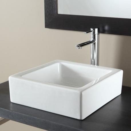 Vasque à poser carrée  blanche