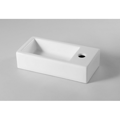 Lave mains rectangle design blanc