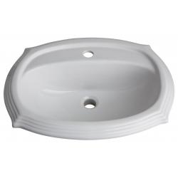 Vasque à encastrer blanche