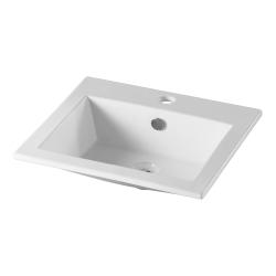 Vasque à encastrer rectangulaire en céramique