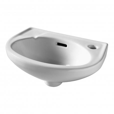 Lave mains de forme classique blanc