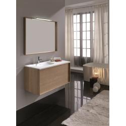 Meuble de salle de bain en chêne massif 100 cm