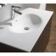 Meuble de salle de bain 100 cm à suspendre blanc brillant