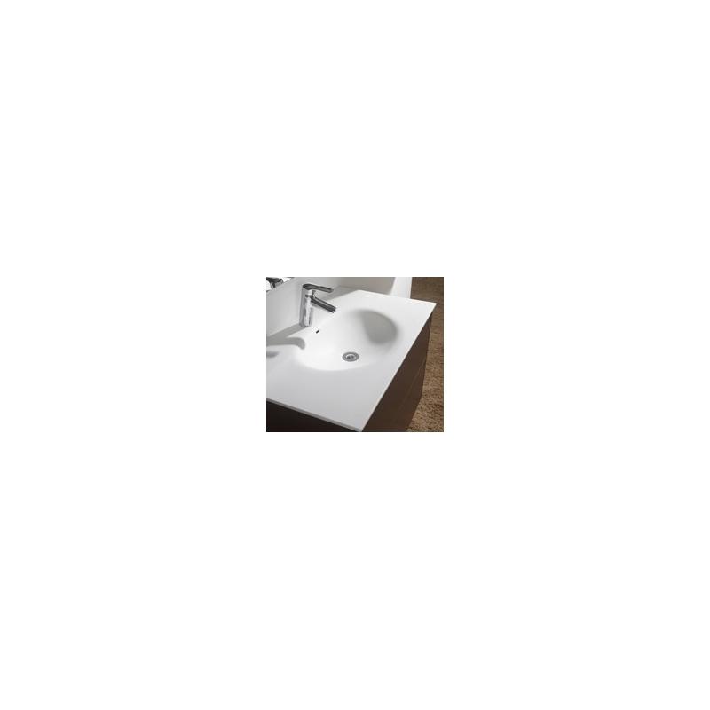 meuble blanc pour salle de bain meubles a poser planete bain. Black Bedroom Furniture Sets. Home Design Ideas