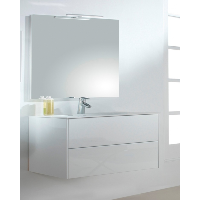 meuble blanc pour salle de bain meubles a poser planete bain. Black Bedroom Furniture Sets. Home Design Ideas