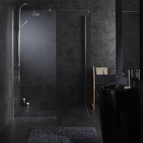 double paroi de douche doubles parois fixes en verre transparent. Black Bedroom Furniture Sets. Home Design Ideas