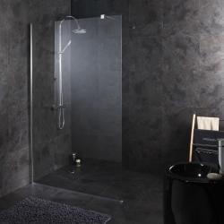 Paroi de douche fixe 120X195 cm tout inox haute qualité