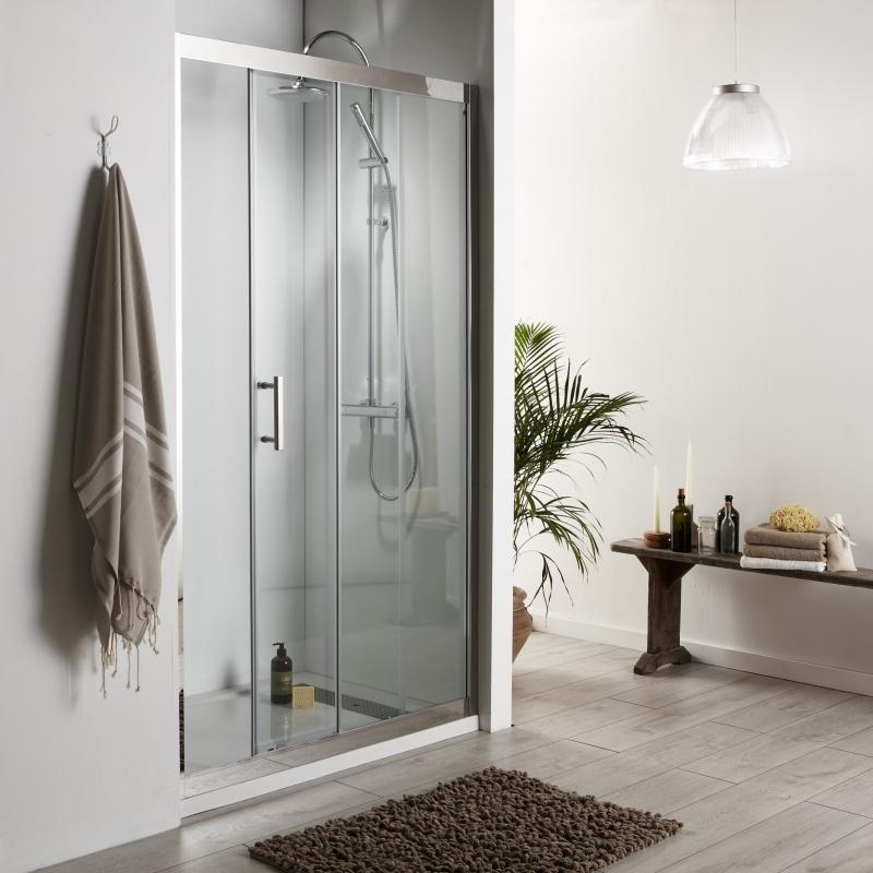 Porte de douche en verre anticalcaire portes de douche - Portes de douche coulissantes ...