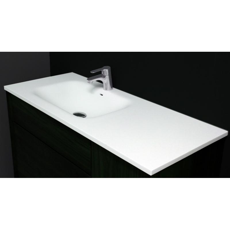Meubles avec simple vasque meuble pour salle de bain en noyer - Vasque salle de bain 100 cm ...