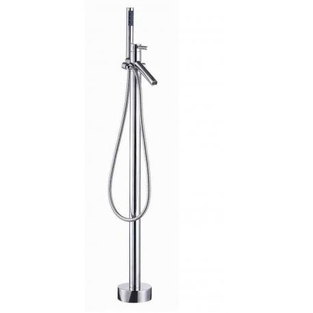 Mitigeur bain douche sur pied contemporain pour baignoire ilot
