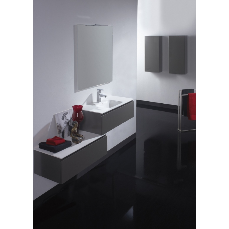 Affordable Meuble De Salle De Bain Simple Vasque Taupe Satin With Meuble  Salle De Bain Gain De Place
