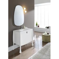 Meuble de salle de bain design original blanc