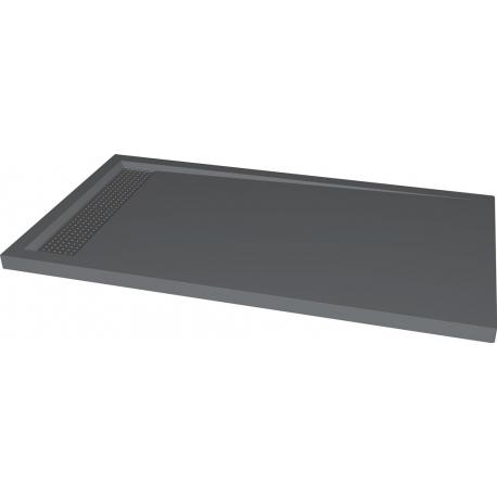 Receveur à poser gris anthracite 80x140cm