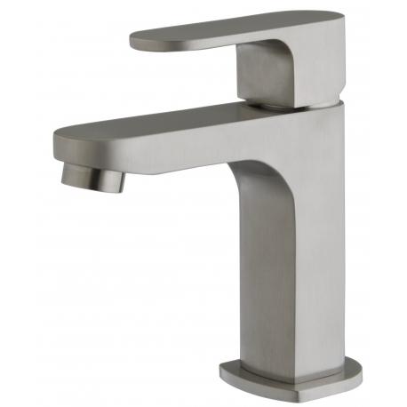Mitigeur de lavabo apparence inox Nolen