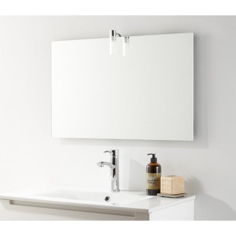 Miroir de salle de bain en verre vente miroirs sur - Hauteur d un miroir de salle de bain ...