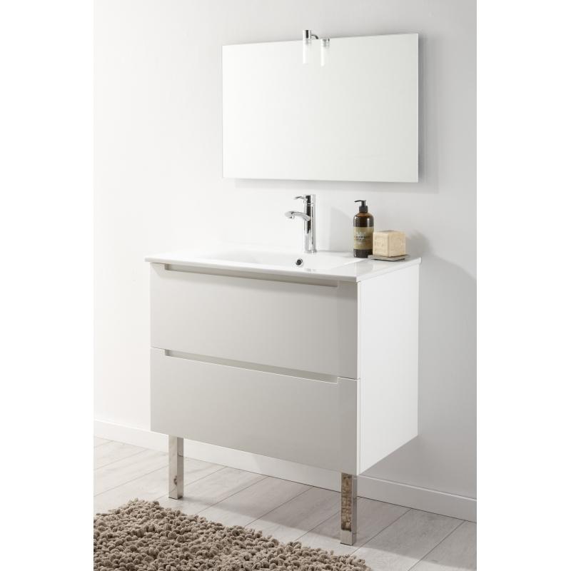 Miroir de salle de bain en verre vente miroirs sur planete bain for Miroir 80 cm salle de bain