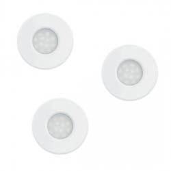Lot de 3 spots LED encastrable blanc