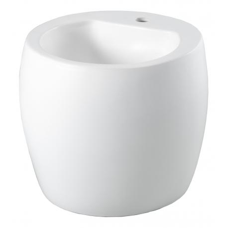 Mini totem à poser en céramique blanche