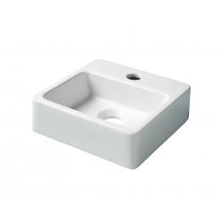 Lave mains droit porcelaine blanc