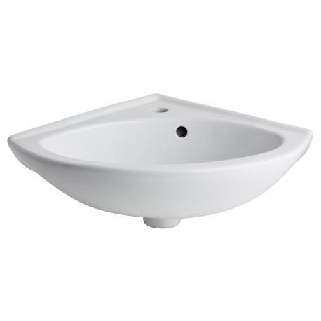 Lave mains d'angle en porcelaine blanc