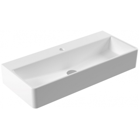 vasque tr s rectangulaire vasque moderne en c ramique. Black Bedroom Furniture Sets. Home Design Ideas