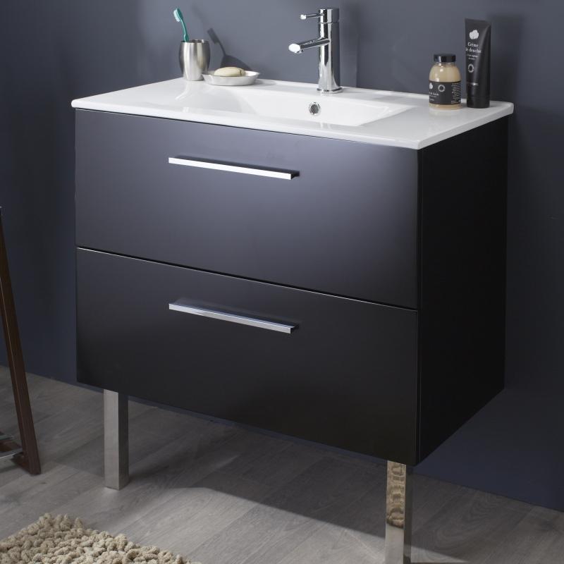 meuble salle de bain noir vente mobilier pour salle de bain