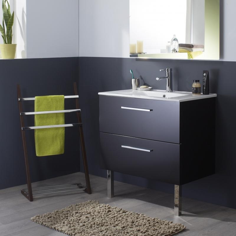 meuble salle de bain noir vente mobilier pour salle de bain. Black Bedroom Furniture Sets. Home Design Ideas