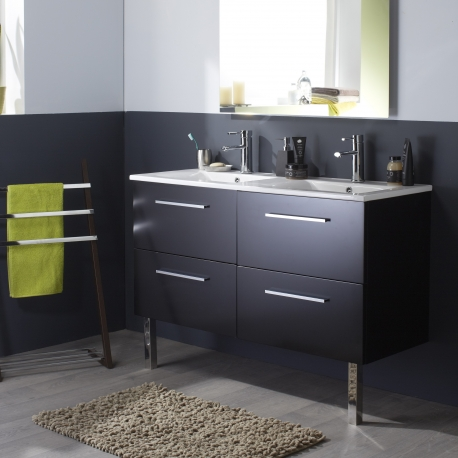 meuble double vasque salle de bain meubles double. Black Bedroom Furniture Sets. Home Design Ideas
