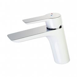 Mitigeur lavabo chrome/blanc Amor