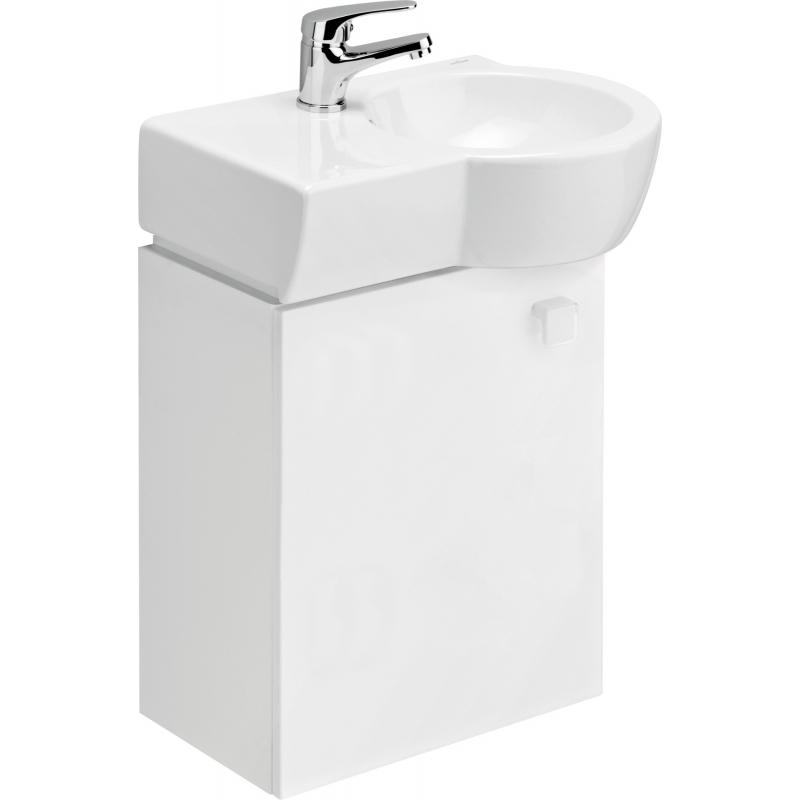 meuble de salle de bain en c ramique et blanc gain de place. Black Bedroom Furniture Sets. Home Design Ideas