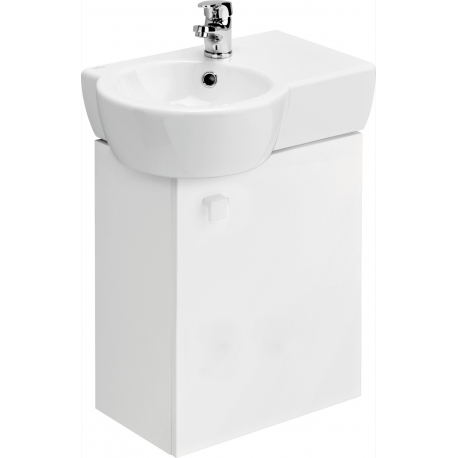 Ensemble meuble lavabo gain de place en c ramique - Meuble gain de place ...